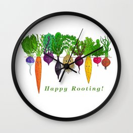 Happy Rooting! Wall Clock
