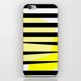 Yellow Abstract Black Stripes iPhone Skin