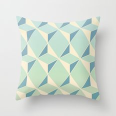 Triangles amd Squares X Throw Pillow