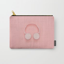 Blush Pink Headphones Carry-All Pouch