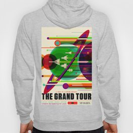 NASA Outer Space Saturn Shuttle Retro Poster Futuristic Explorer Hoody