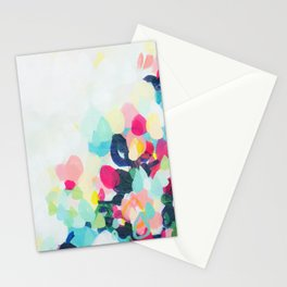 Little Hills 1 - Abstract landscape Painting Stationery Cards