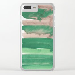 11    190403 Watercolour Painting Abstract Pattern Clear iPhone Case
