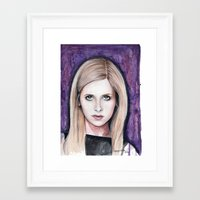 buffy Framed Art Prints featuring Buffy Summers by Morgan Allain, The Inkling Girl