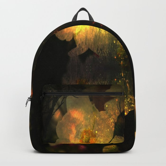 Frightening Glow in the Flowers Backpack