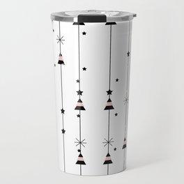 Cristmas tree and stars Travel Mug