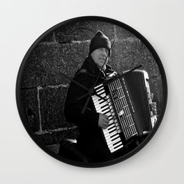 Accordion Busking on Howth Bay Wall Clock