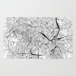 Rome White Map Rug
