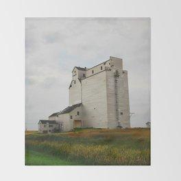 Grain Elevator on the Canadian Prairie Throw Blanket