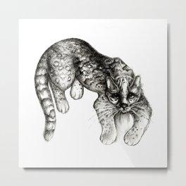 Tropical Wild Cat Metal Print