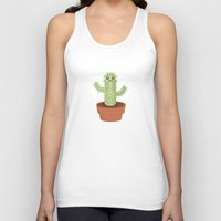 kawaii Tank Tops featuring Kawaii Cactus by Nir P