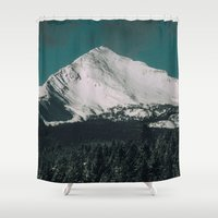 montana Shower Curtains featuring Winter In Montana by Kenna Allison