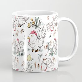 Cute Chicken Pattern Coffee Mug