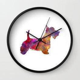 Scottish Terrier in watercolor Wall Clock