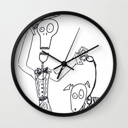 Mr. Skeleton and his Dog Wall Clock