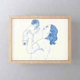 Portrait of a Father Framed Mini Art Print