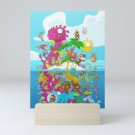 What lies beneath the ocean? Mini Art Print