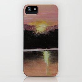 Grundy Lake Sunset iPhone Case
