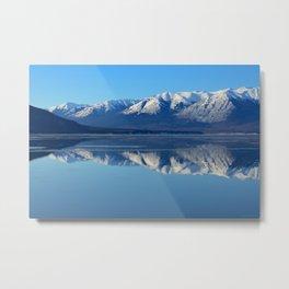 Turnagain Arm Mirror - Alaska Metal Print