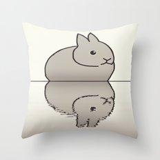 rabbit-15 Throw Pillow