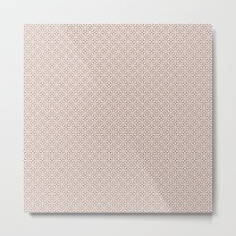 Handdrawn Geometric Pattern Grape on Cream Metal Print