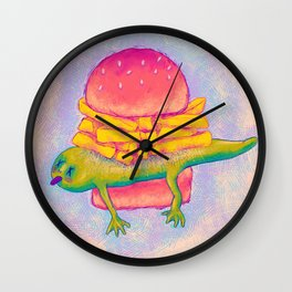 French Fry Newt Burger with Special Sauce Wall Clock