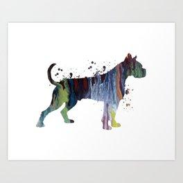 Boxer Dog Art Print