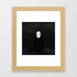 kaonashi in the woods Framed Art Print