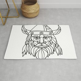 Norseman Black and White Mosaic Rug