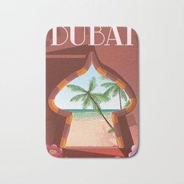 Dubai travel poster Bath Mat
