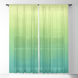 Painterly Gradient - Spring Forest Variant Sheer Curtain