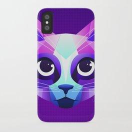 Neon Cat iPhone Case