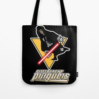 pittsburgh Tote Bags featuring Pittsburgh Plagueis by Ant Atomic