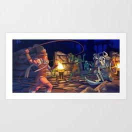 Dracula's Curse: Warikiya Art Print