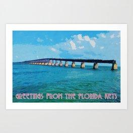 Greetings From The Forida Keys Art Print