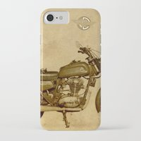 ducati iPhone & iPod Cases featuring Ducati motorcycle Meccanica by Larsson Stevensem