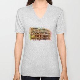 Colosseum Rome Unisex V-Neck