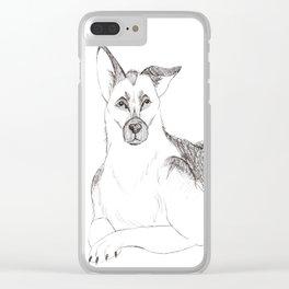 German Shepherd Clear iPhone Case