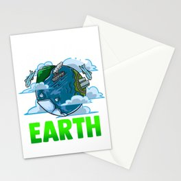 Love The Earth Hipster Cute Hippie Mother Earth Stationery Cards