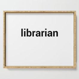 librarian Serving Tray
