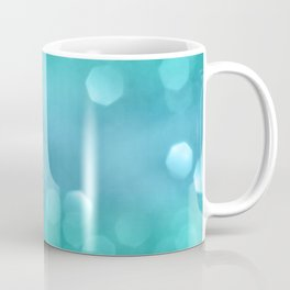 Aqua Blue OCEAN Bokeh #1 #shiny #decor #art #society6 Coffee Mug