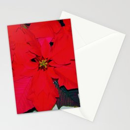 Poinsettia Stationery Cards