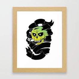 Bandaged Skull Framed Art Print