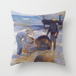 Valencian Fisherman - Joaquín Sorolla  Throw Pillow