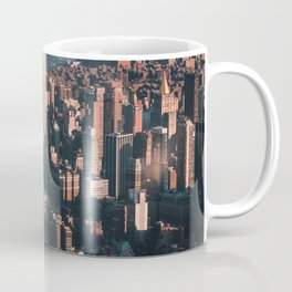 Empire State Building seen from a plane Coffee Mug