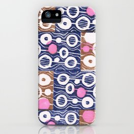 Hot pink dots iPhone Case