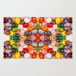 Cool colorful sweet Easter Jelly Beans Candy Rug
