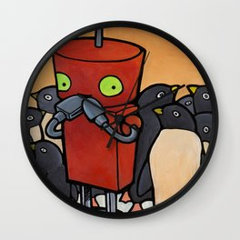 Robot - You Make Me Laugh Wall Clock