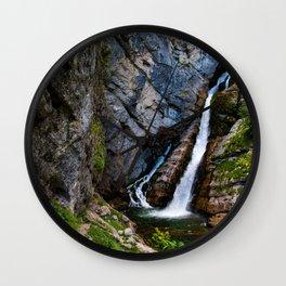 Peaceful Waterfall Wall Clock