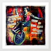 motivation Art Prints featuring Motivation by Rachelle Panagarry